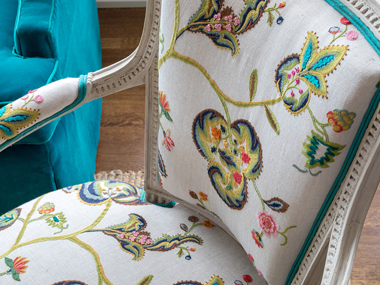Antique chair upholstery San Francisco Bay Area