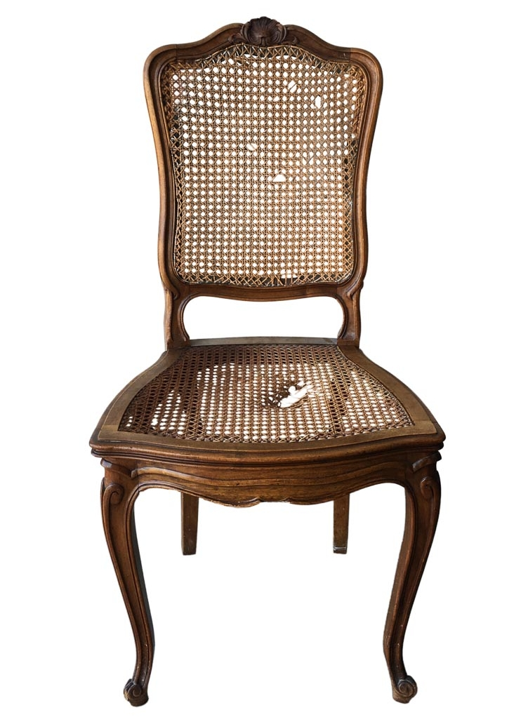 Antique cane chair repair San Francisco Bay Area and Los Angeles