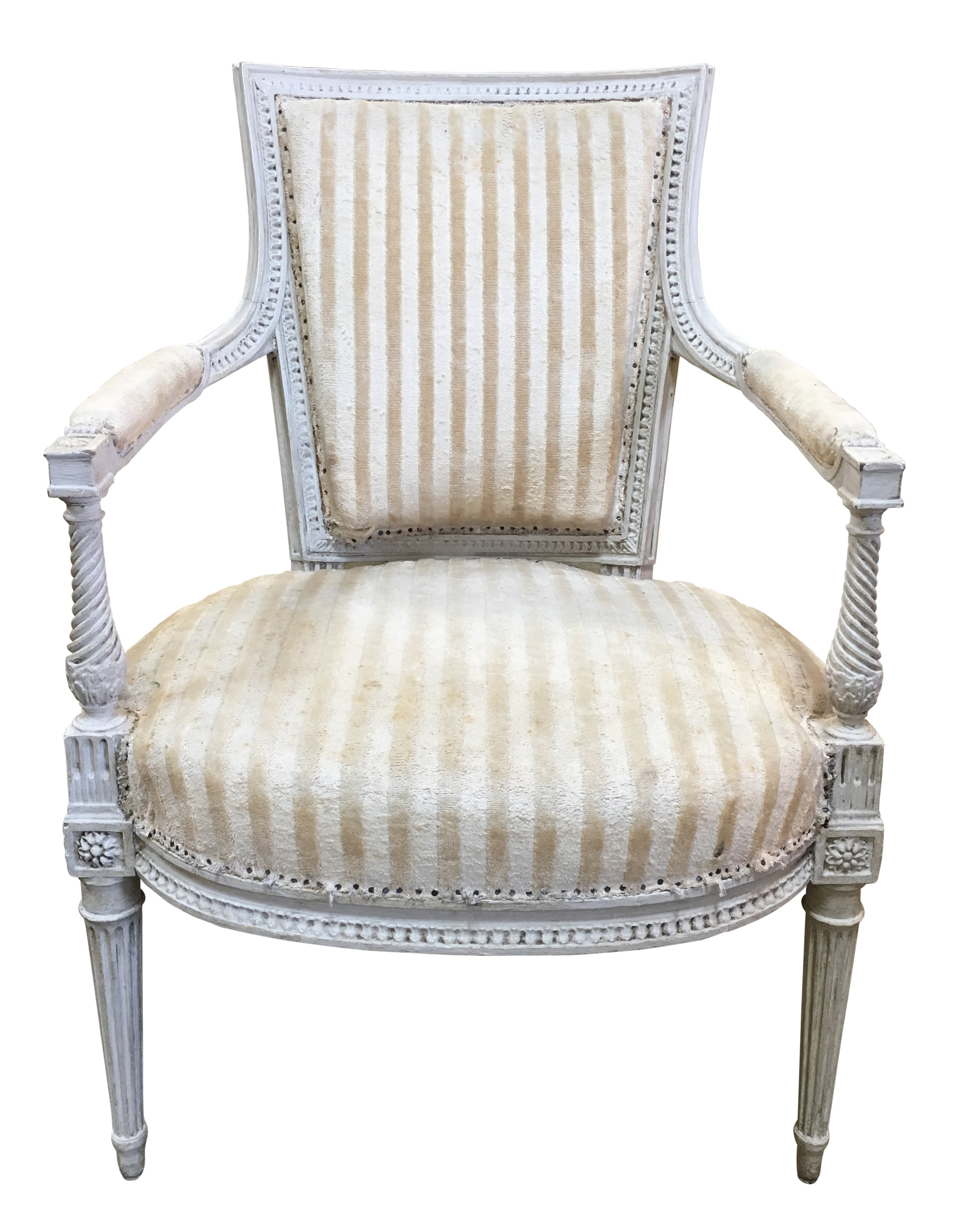 Louis XVI Armchairs reupholstery San Francisco Bay Area and Los Angeles