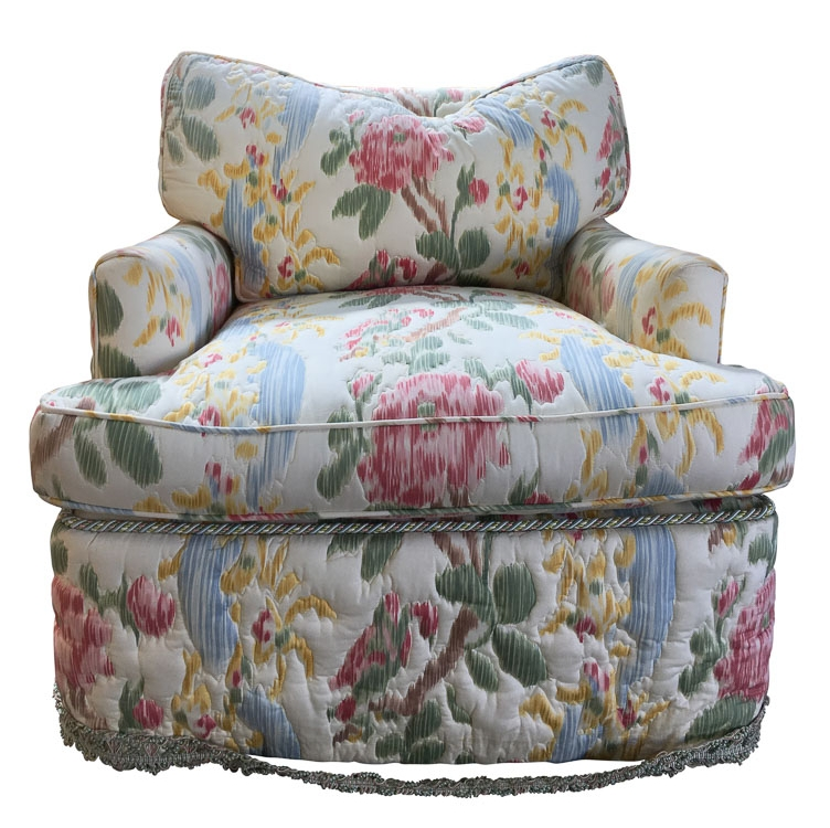 Skirted Club Chairs before reupholstery | Revitaliste