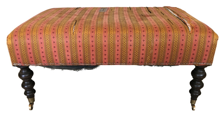 Ottoman reupholstery San Francisco Bay Area and Los Angeles