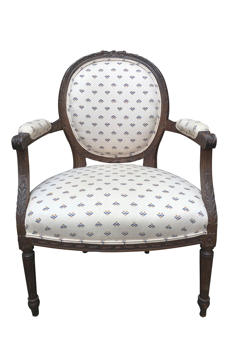 antique Fauteuil Chair upholstery San Francisco Bay Area and Los Angeles