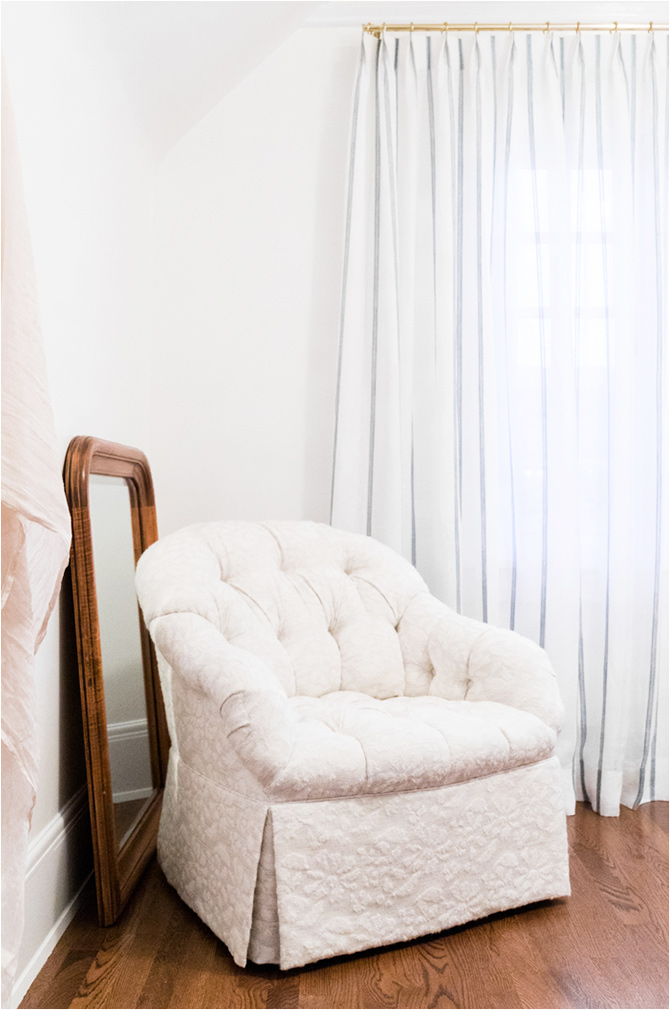 Revitaliste reupholstered these Tufted Club Chairs in a alpaca fabric from Sandra Jordan.