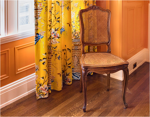 Revitaliste recaned these Antique Hand Caned Chairs and stained the new caning to match the wood frames.