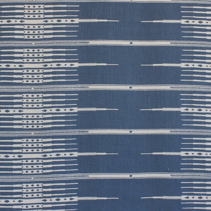 """Tangiers"" in Indigo on Natural"