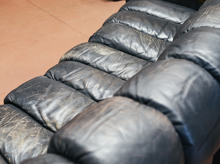 Reconditioning a leather sofa | Leather furniture repair San Francisco Bay Area and Los Angeles