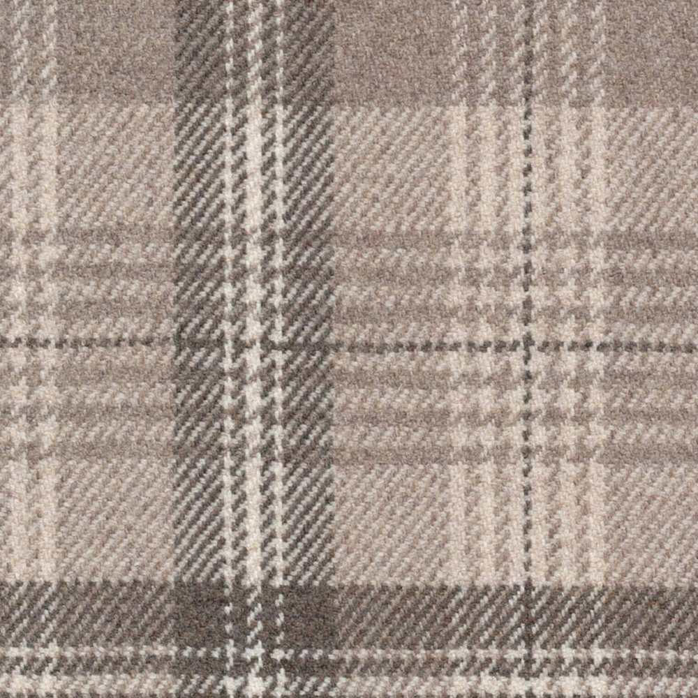 5. 'New Town Stone Plaid' by Ronda Carmen - A classic tartan never goes out of style, and we're a fan of this version by Ronda Carmen. While this neutral color palette is perfect for layering and would make a perfect canvas for almost any other hue, it will undoubtedly set the tone of a space as cozy and warm.