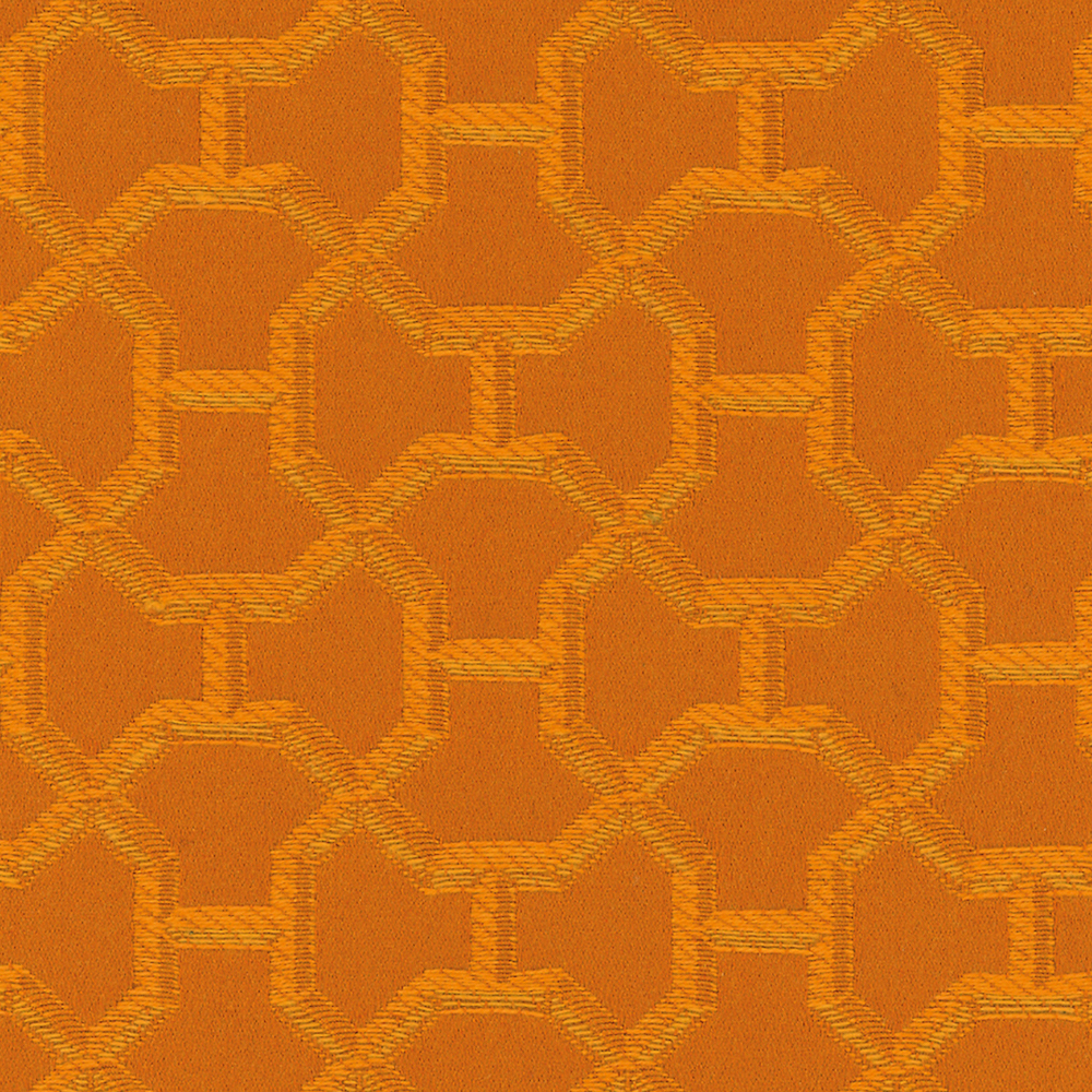 4. 'Quartz' by Hermès - Orange is ubiquitous with fall - and no one does orange better than Hermès. Quartz is a neoclassical upholstery fabric with the subtle 'H' woven throughout. It's easy to imagine this fabric on a reupholstered piece for a fashionista dreaming of a Parisian getaway.