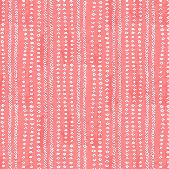 Nine Muses 'Arrows' in Watermelon - A globally-inspired pattern, 'Arrows' is both bright and cheery, and the watermelon colorway is the perfect pick for summer.