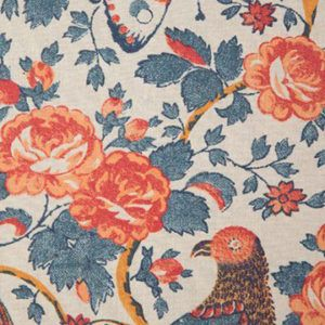 Schuyler Samperton 'Caledonia' in Mandarin - We love the intricate chintz 'Caledonia' upholstery fabric for its unique color combination - with a pop of coral - on a classic pattern.