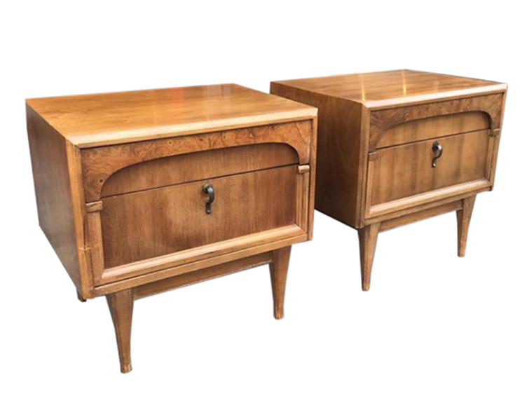 BEFORE: vintage nightstands