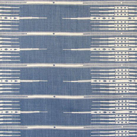 """""""Tanjiers"""" in Indigo on Natural"""