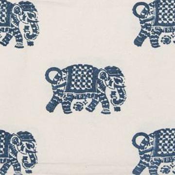 "Alamwar ""Elephant Walk"" in Indigo"
