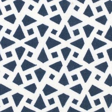 "Alex Conroy Textiles ""Mughal Lattice Small Reverse"" in Indigo"