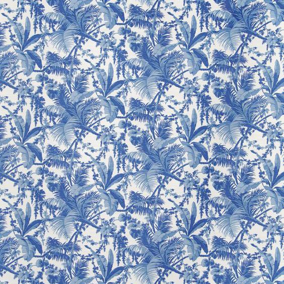 "Bennison Fabrics ""Waikiki"" in Faded Blue on Oyster"