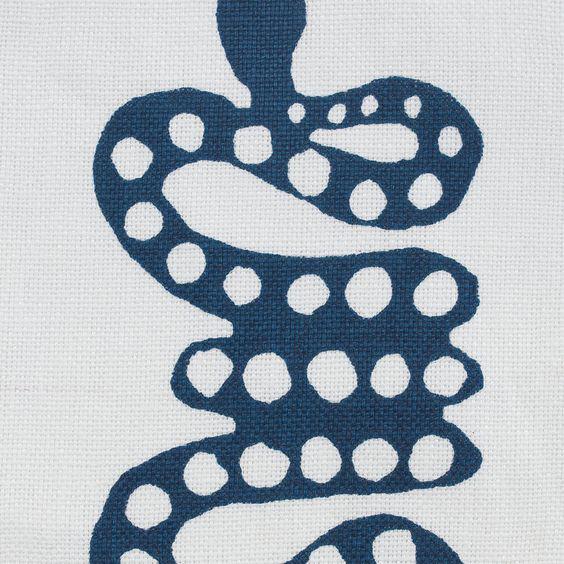 "Block and Brayer ""Snakes"" in Indigo"