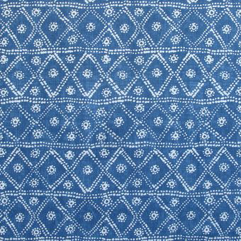 "Carolina Irving Textiles ""Zig Zag"" in Cerulean"