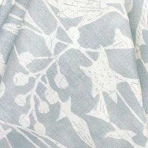 """Chris Barrett Textiles """"Trillium Night"""" in Dew"""