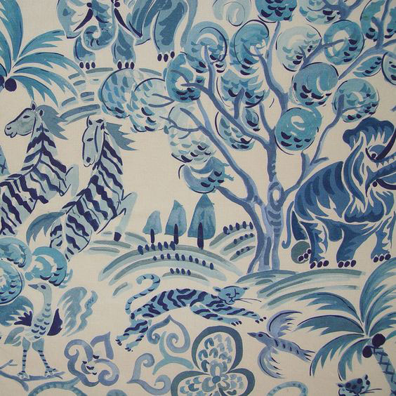 """Clarence House """"Congo"""" in Blue 1"""