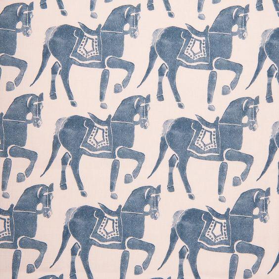 "Molly Mahon ""Marwari Horse"" in Blue"