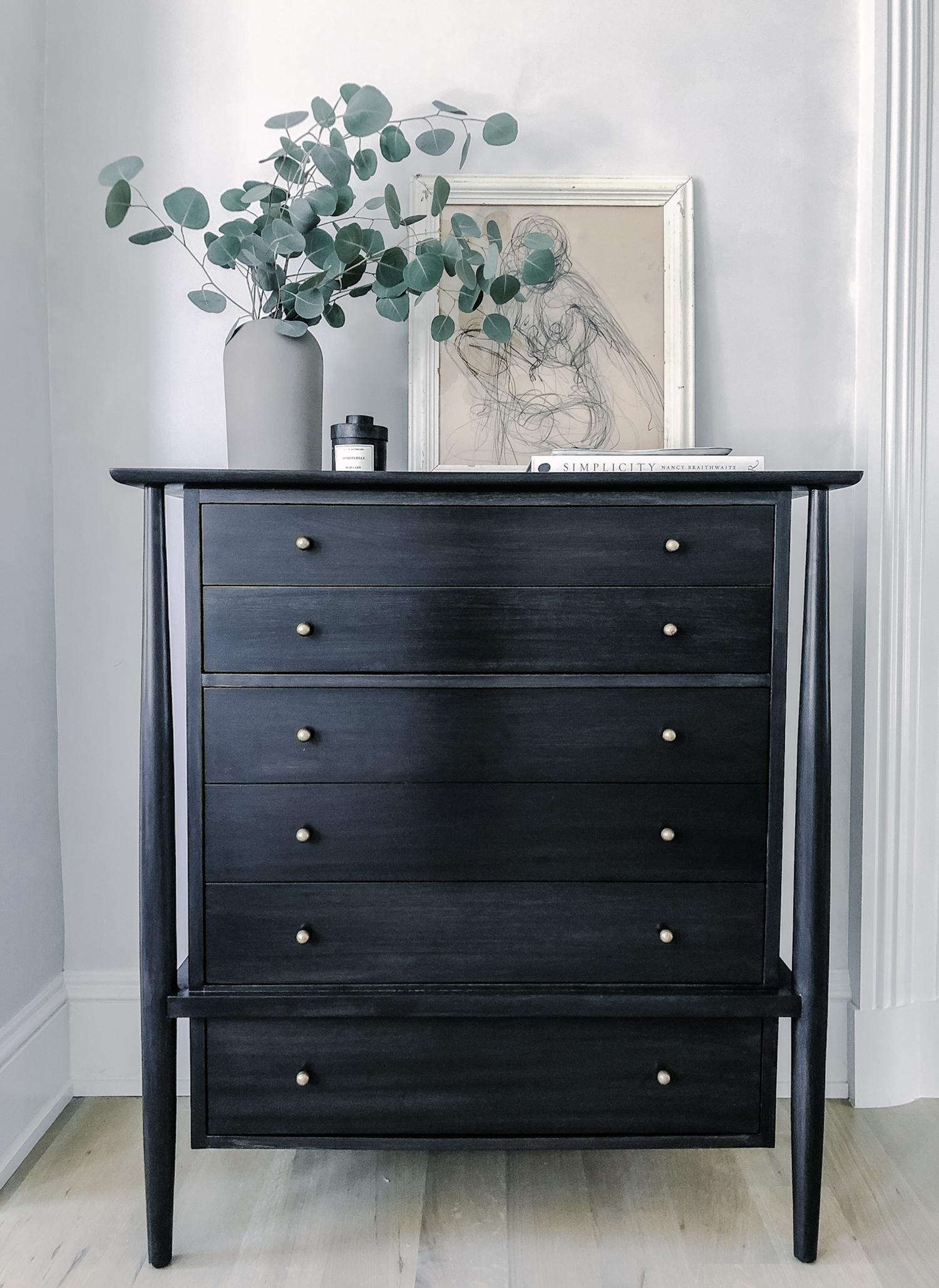 Vintage dresser refinished in custom ebony wood stain   Revitaliste San Francisco & Los Angeles