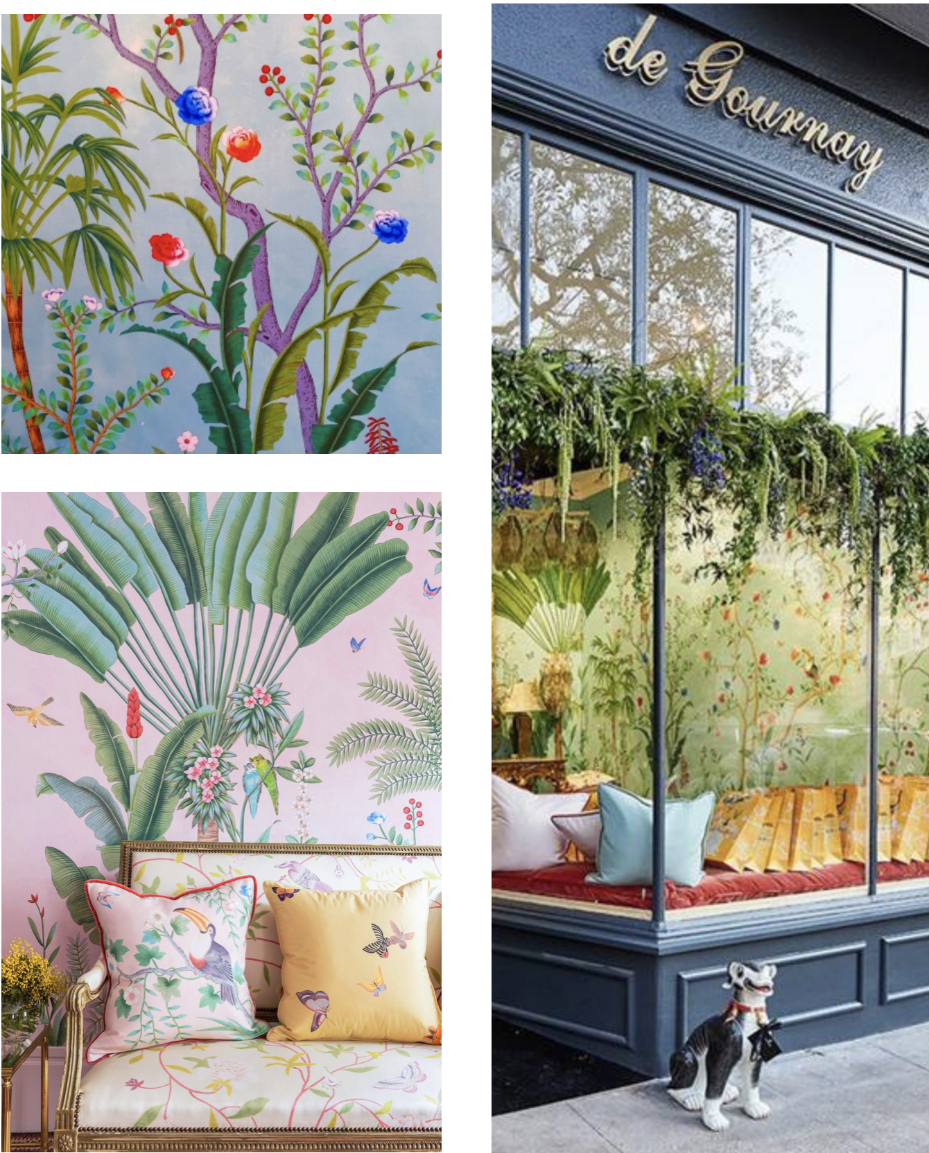 de Gournay - For exquisite hand-painted wallpaper and fabrics, you've arrived. Get lost perusing the beautiful panels and allow inspiration to envelop you. They offer beautiful damasks and other traditional fabrics. de Gournay papers and fabrics are some of our favorites for truly transformative revitalizations.Must Buy: the fabric or wallpaper for your next Revitaliste projectvisit website