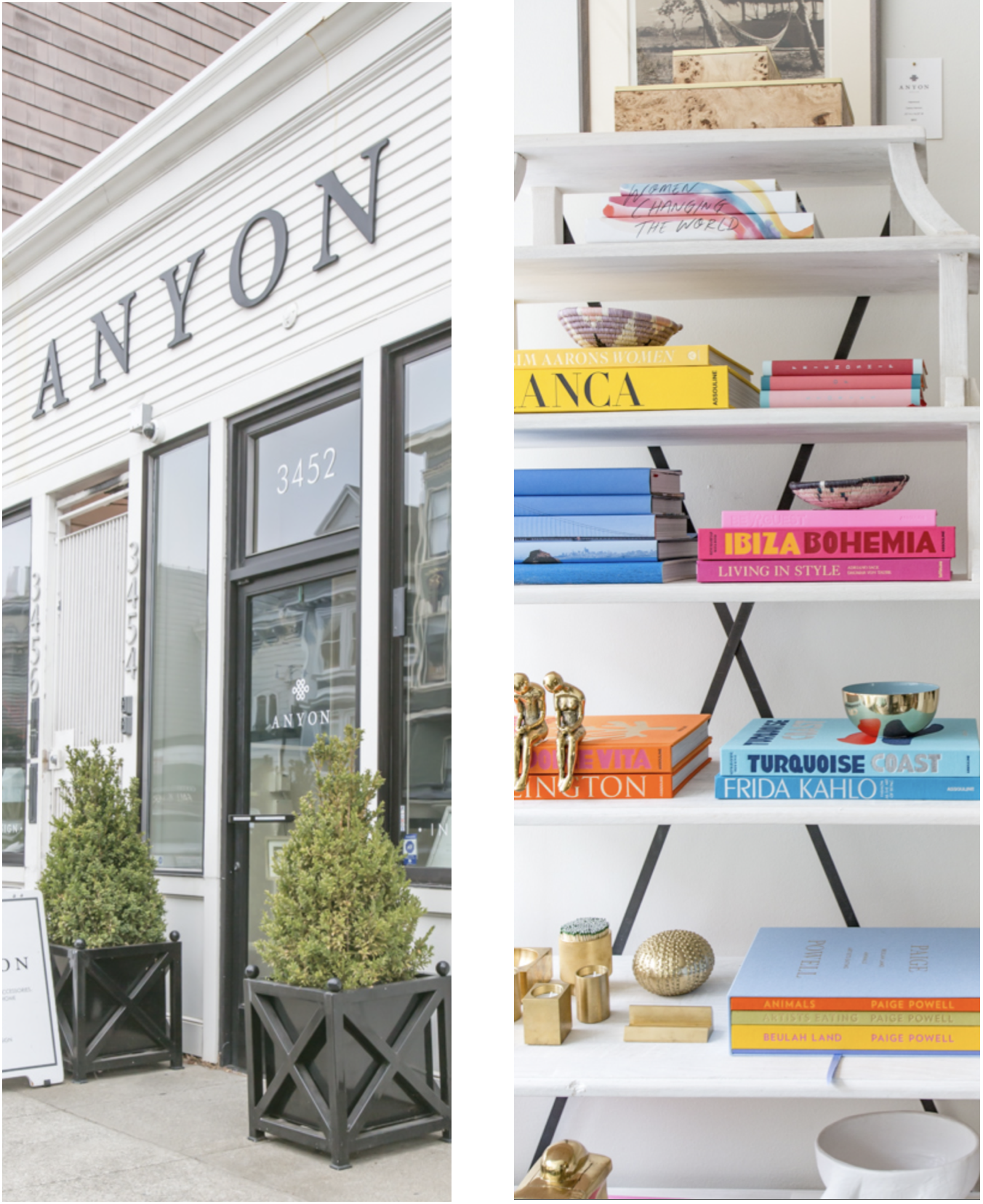 Anyon Atelier - Walking into Anyon is an instant dose of happiness. Surrounded by beautiful things at every turn that are always changing, you'll find no-brainer buys and investment pieces alike. Anyon curates a wonderful selection of vibrant books, accessories, and furnishings, as well as an exciting mix of photography.Must Buy: coffee table books, statement photography, earthy furnishingsvisit website
