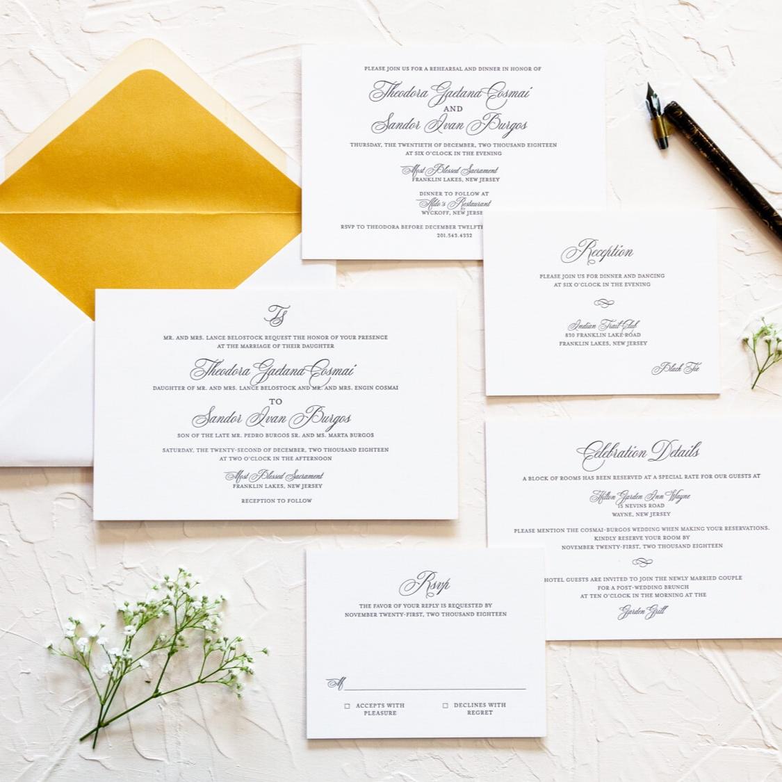 Theodora & Sandor - Wedding Invitations, Ceremony Programs, Menus, & Place Cards