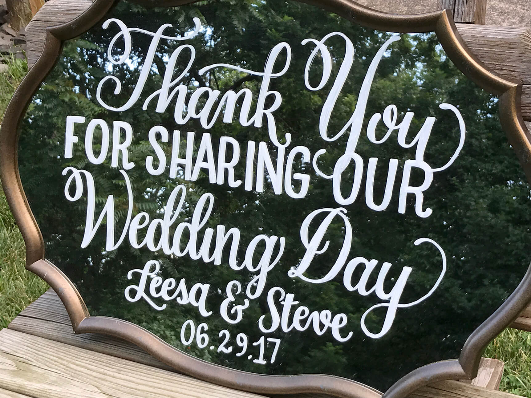 Hand-Lettered Signage - Our offerings go beyond the initial invitation. We also create day-of event signage, seating charts, place cards, table numbers, and more. These can be hand-drawn on a variety of surfaces or digitally produced.