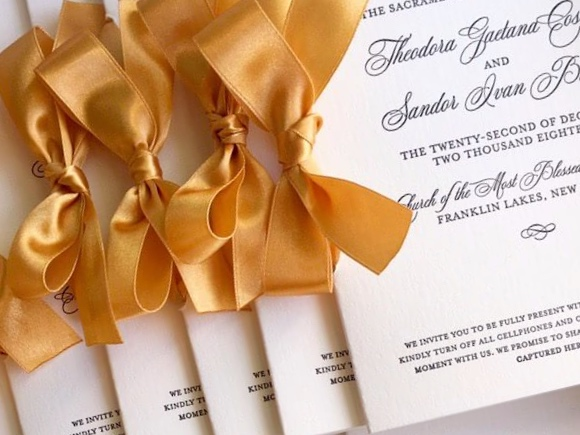 Finishings - Finishings and add-ons are the perfect way to give simpler invitations an extra splash of color or embellishment. This includes belly bands, wax seals, edge-painting, envelope liners, and more.