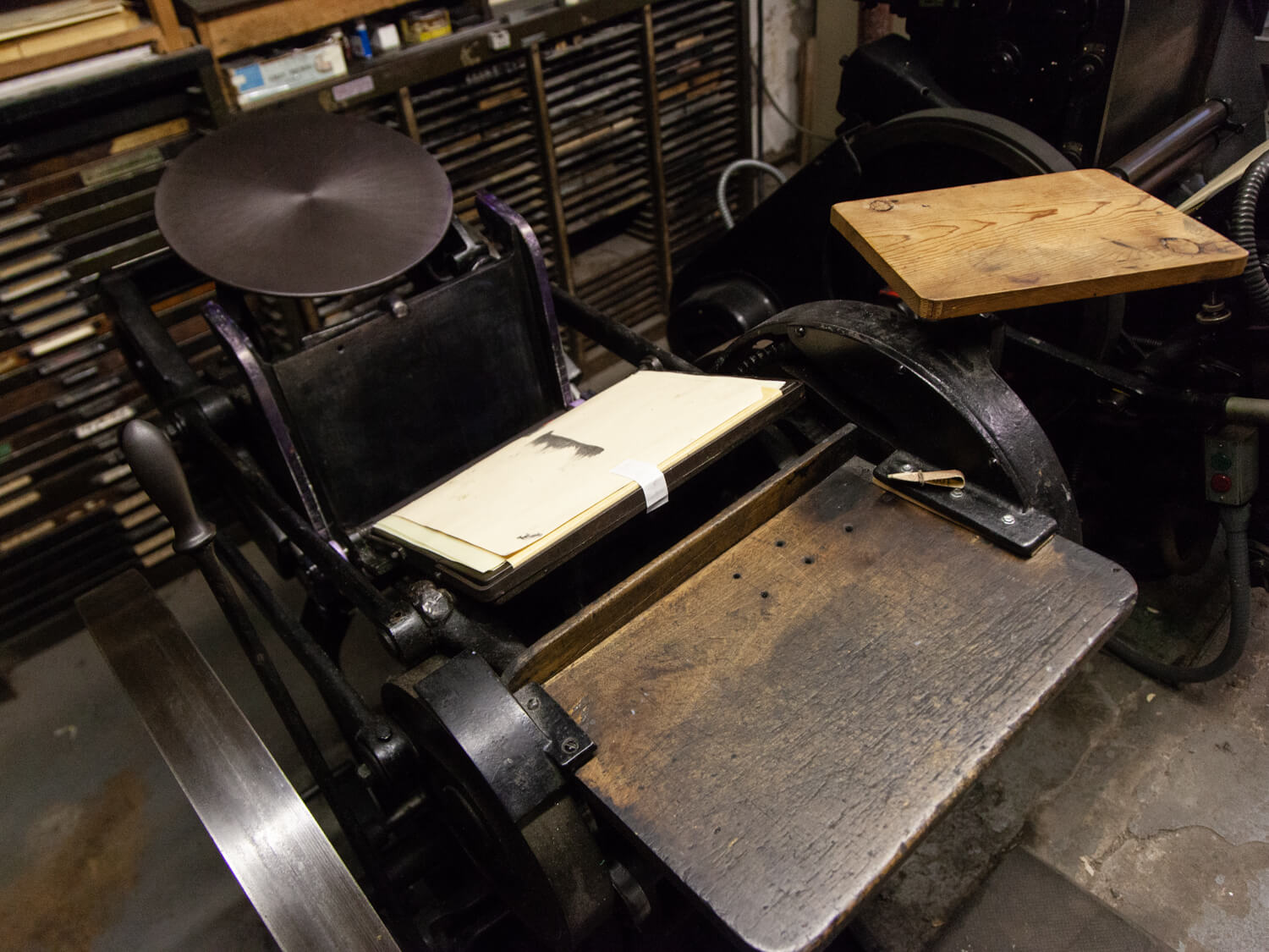 Chandler & Price - The Chandler & Price is our workhorse. It's an antique 1920's letterpress and is where we do most of our stationery printing.