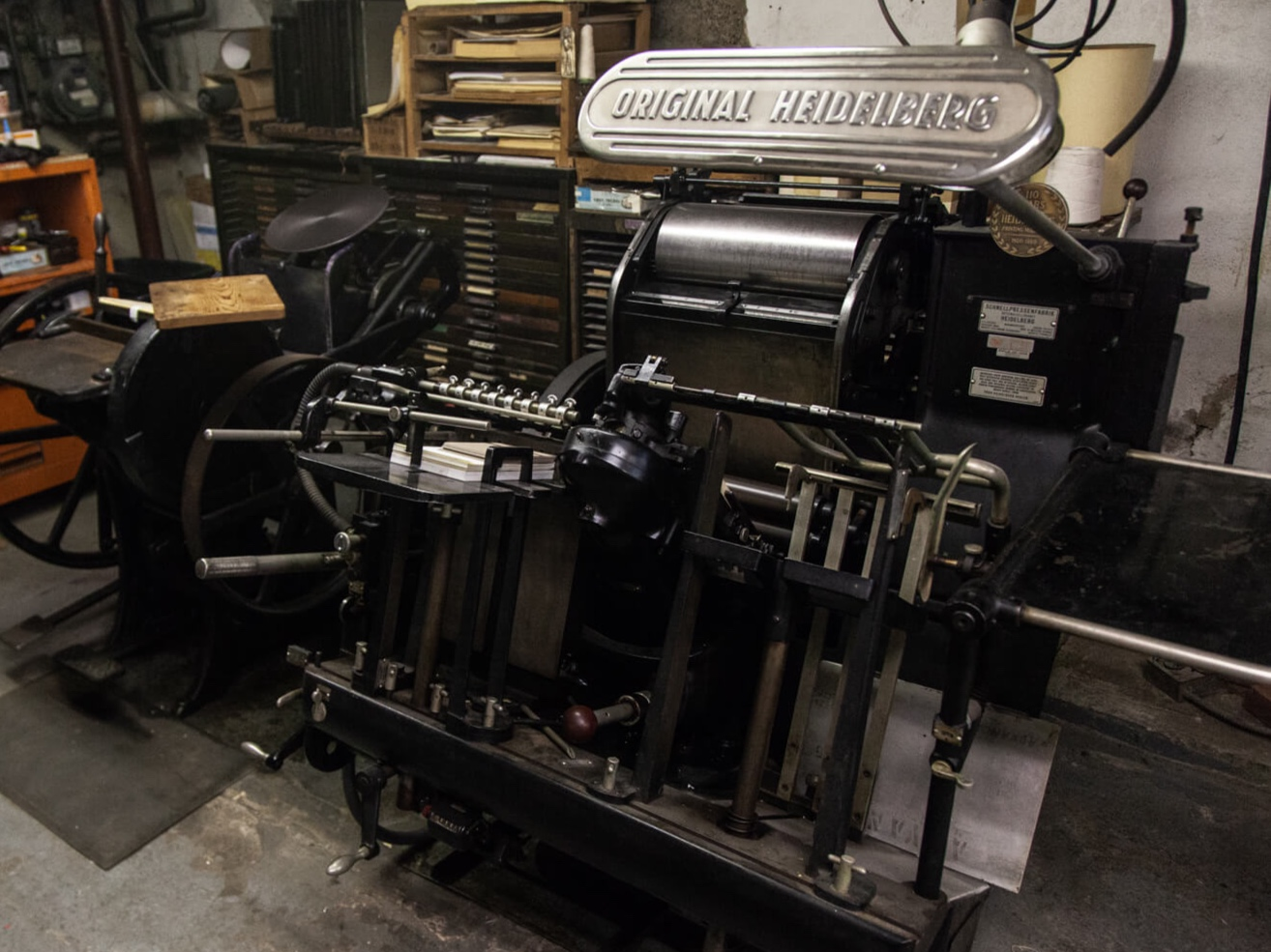 Heidelberg Windmill - The Heidelberg Windmill is our newest letterpress, inherited from my alma mater—Montclair State University— in 2018.