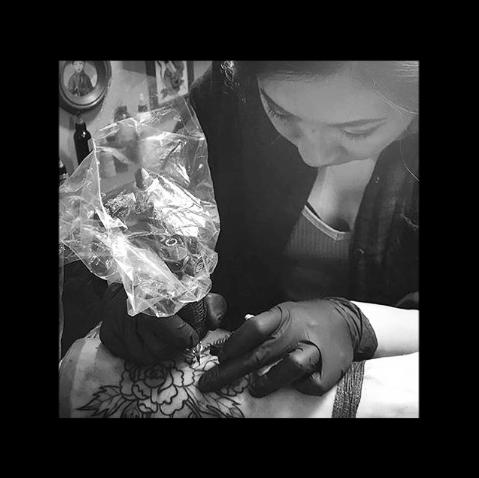 Justine Cho - tattoo apprentice