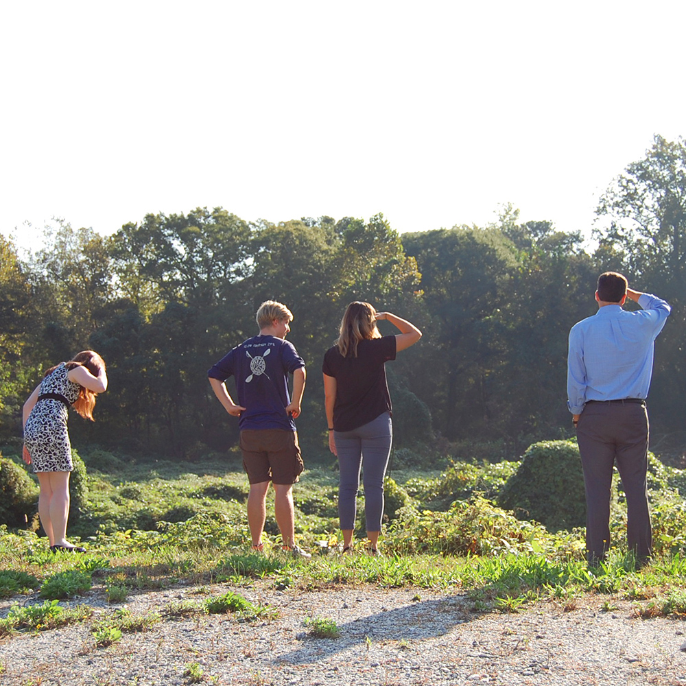 This week ECF met with Georgia Tech students to review data for thier class project and took them on a tour of potential sites along Proctor Creek.   Pictured:  Environmental Engineer, Civil Engineer, Planner, Landscape Architect