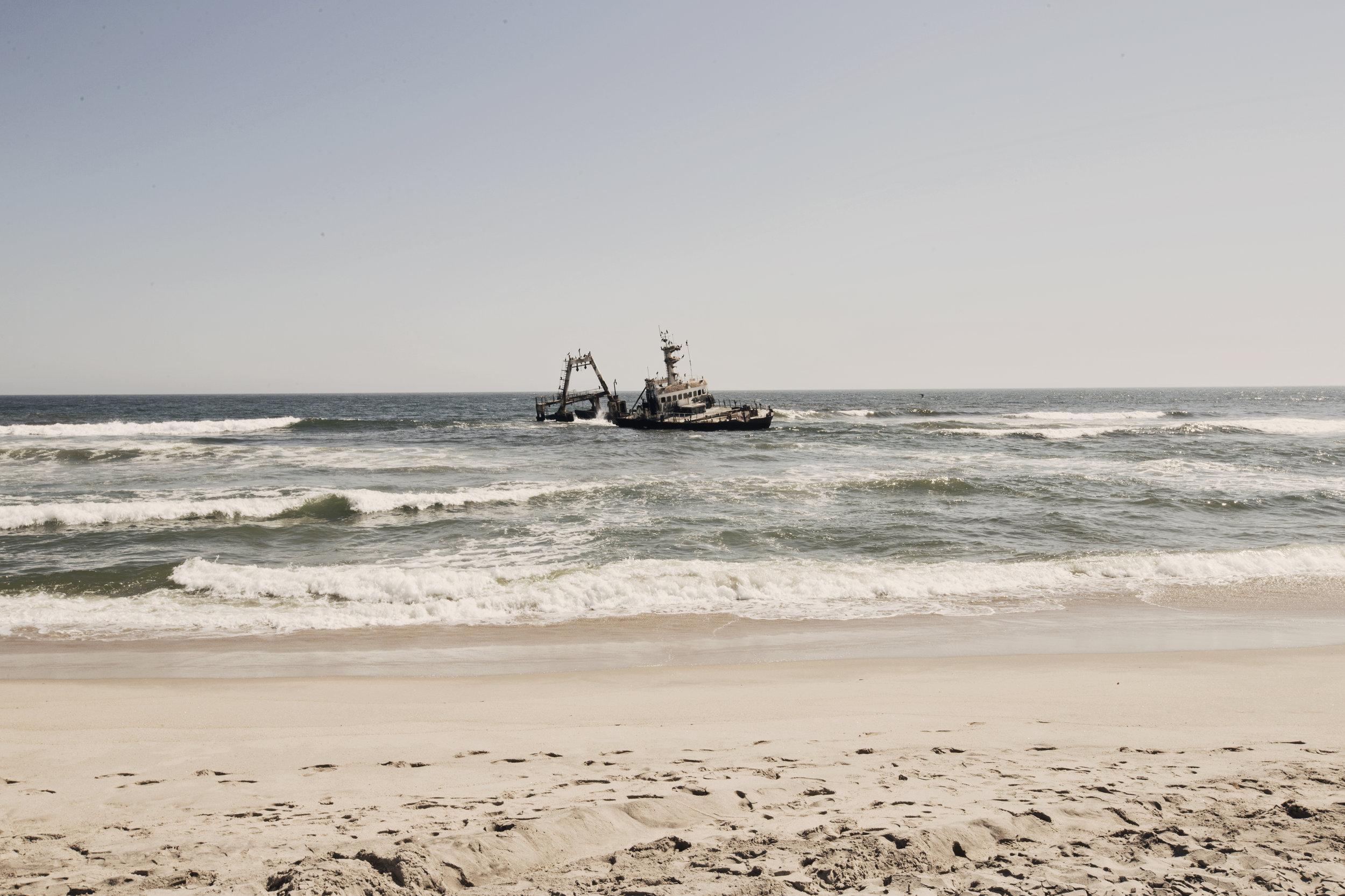 A shipwreck along the Skeleton Coast, Namibia.