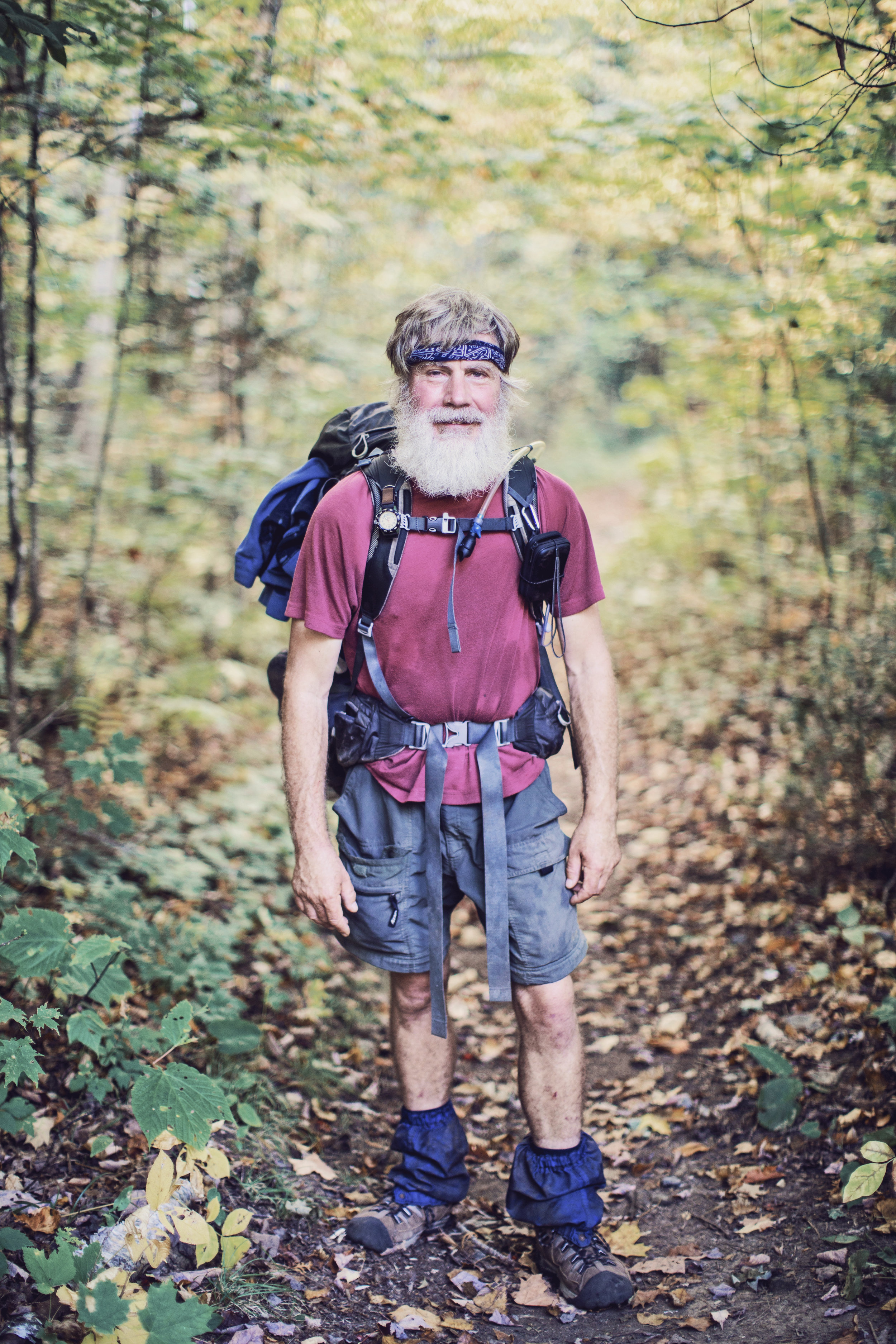 """Papa Bean"" has a simple story about his time on the trail. He tells me in his his lyrical, soft spoken voice ""my daughter called me up one day and asked if I wanted to hike the trail. It took me two seconds to say yes."""