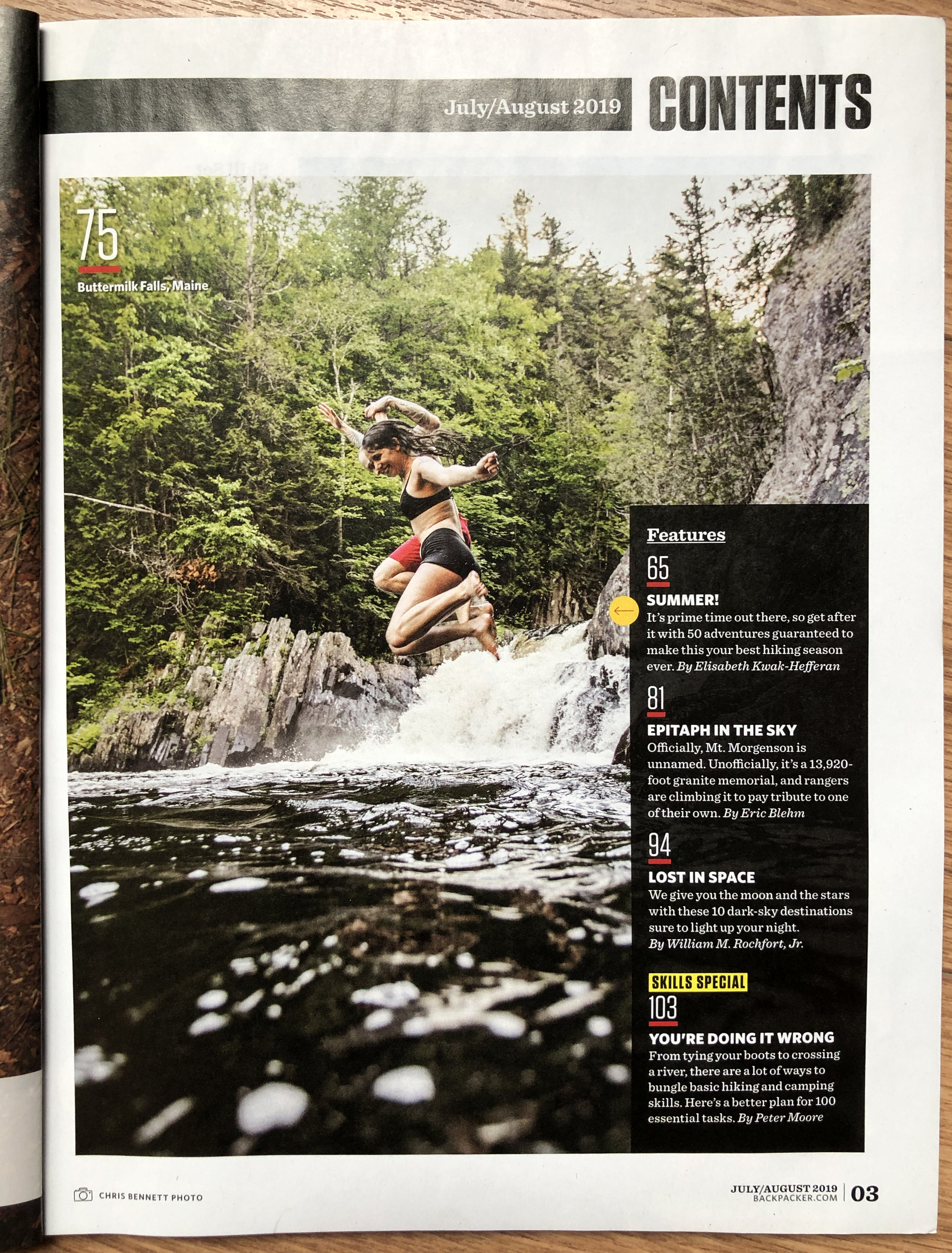 Backpacker Magazine, July/August 2019