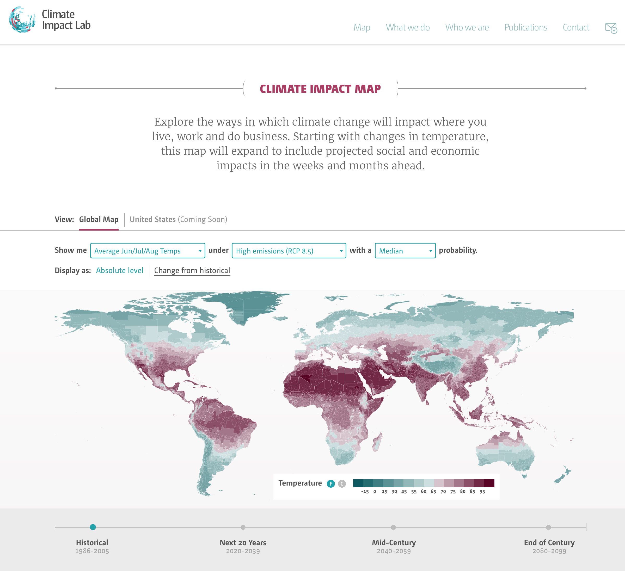 climate impact lab map