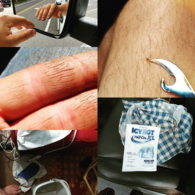 Memorial day through June 18th. #icyhot works the mental attitude and Epsalm salt relieves the morning first step pains #dailytickcheck...fuckers are small...wait for the itch and it may be to late