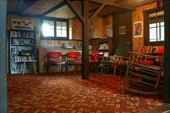 The Quiet Place  is a more intimate meeting space that has room for up to 25 people to gather around its hearth.