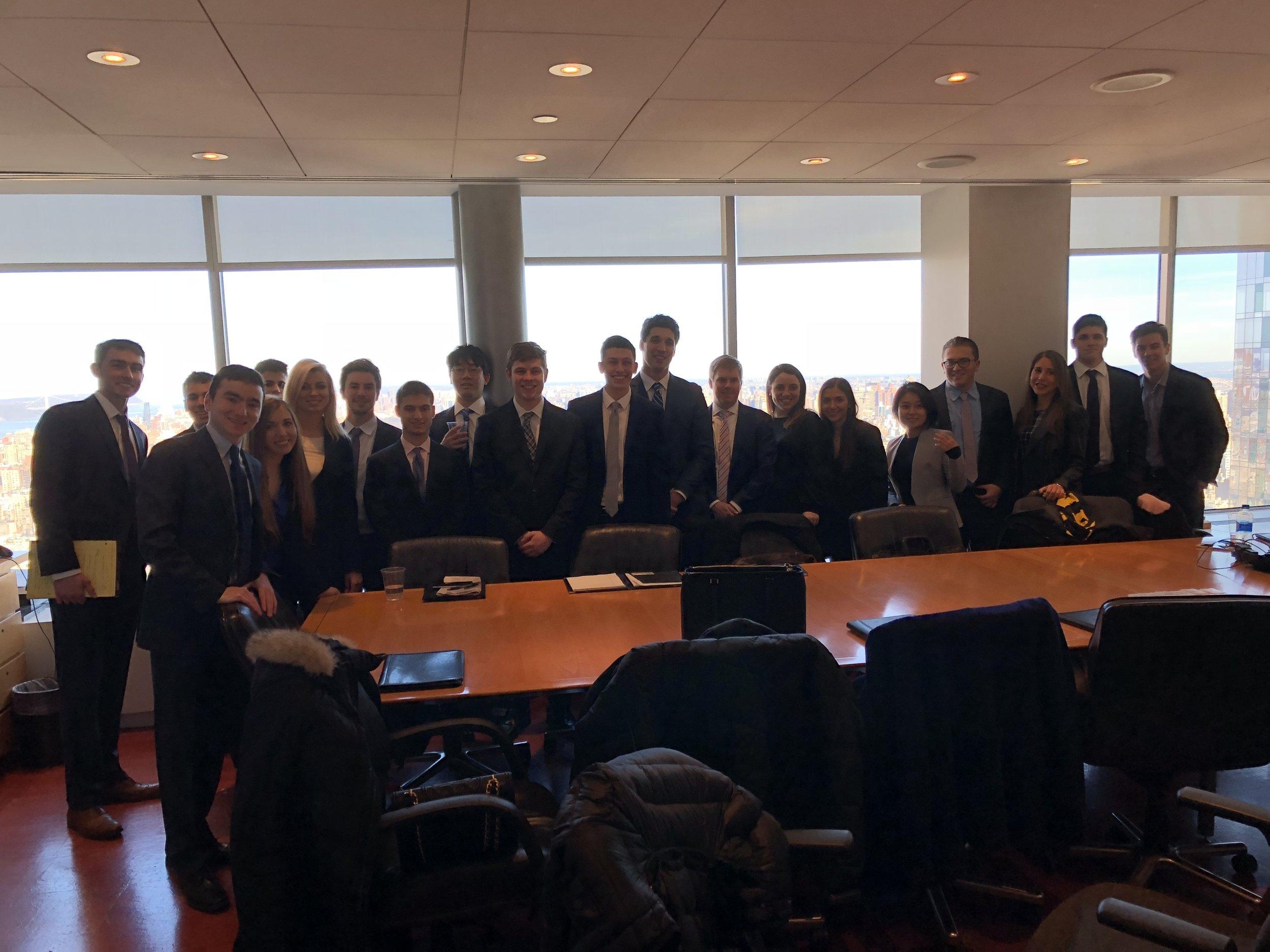 MREC members visit Vornado Realty Trust's NYC headquarters.