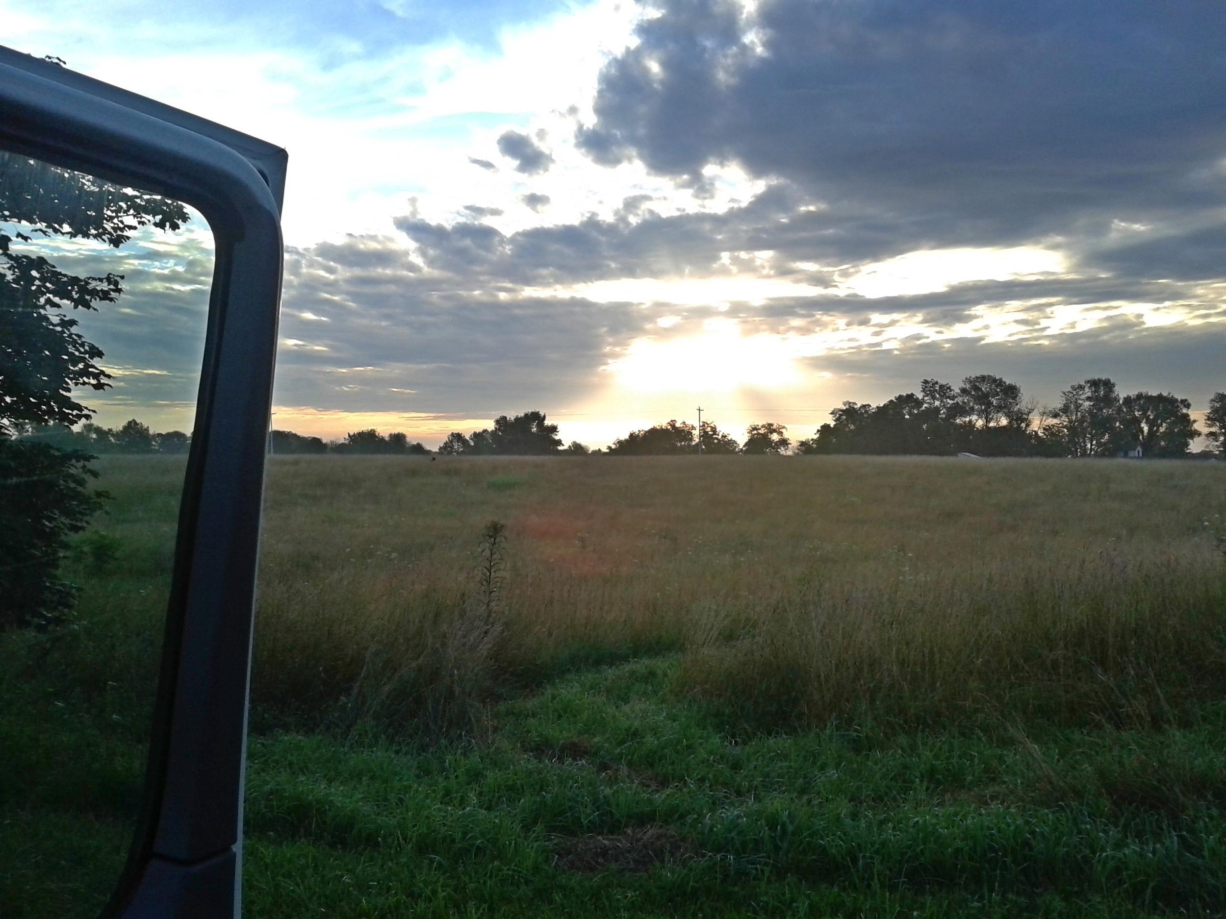 Sunrise over the farm.