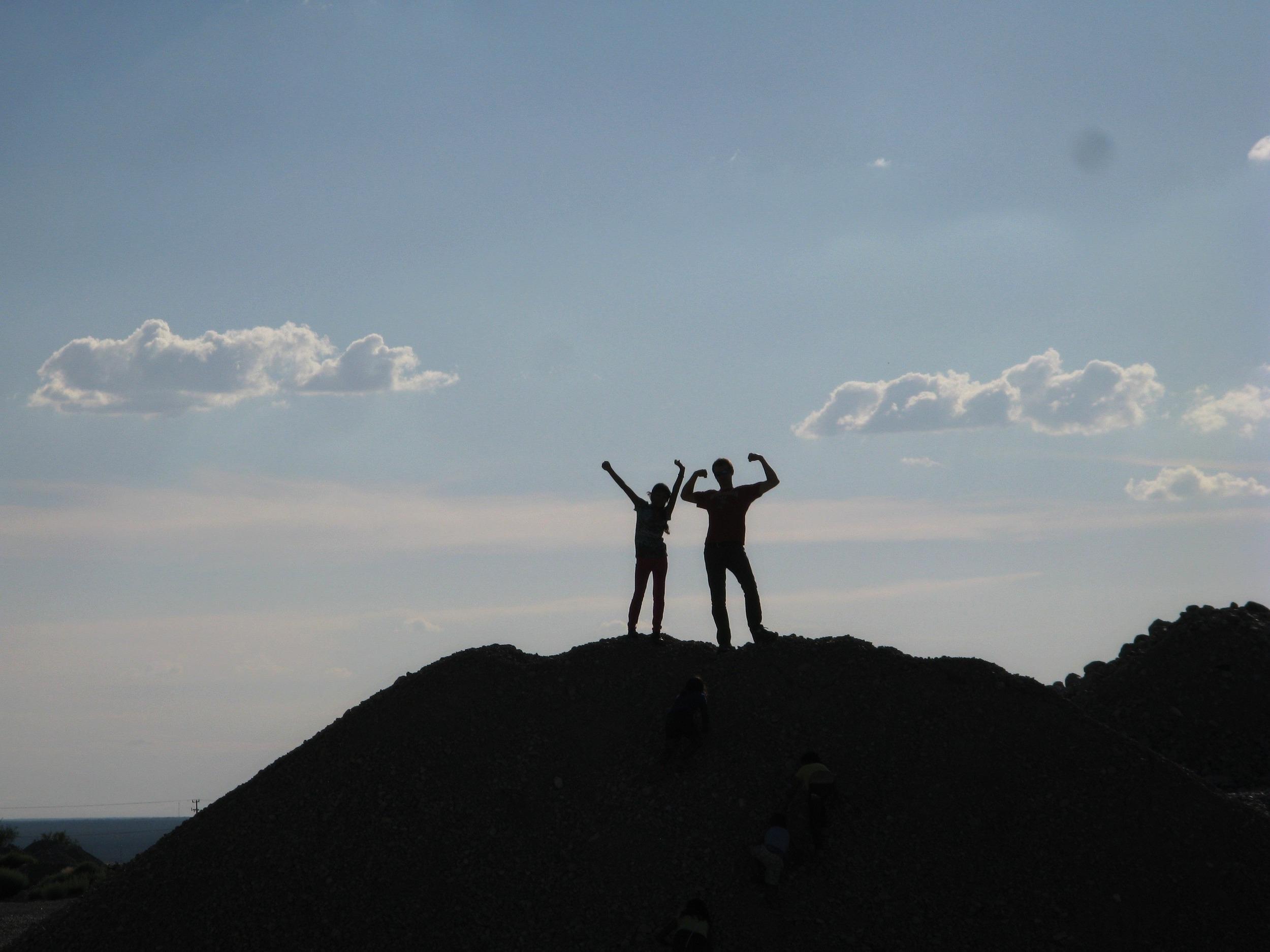 Summer summit silhouettes.