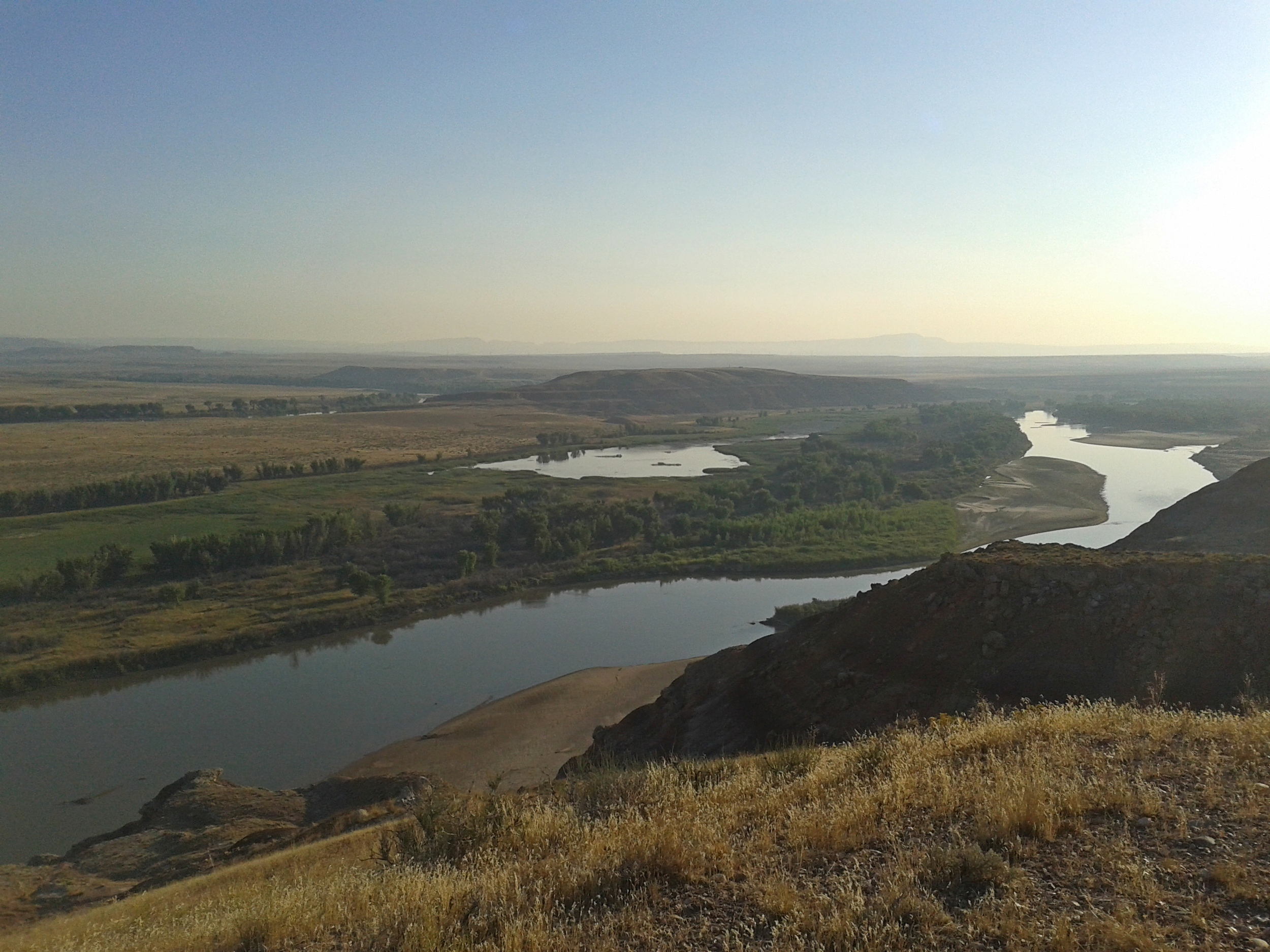 Ouray National Wildlife Refuge. That's the Green River. We worked along the banks spraying invasive plants.