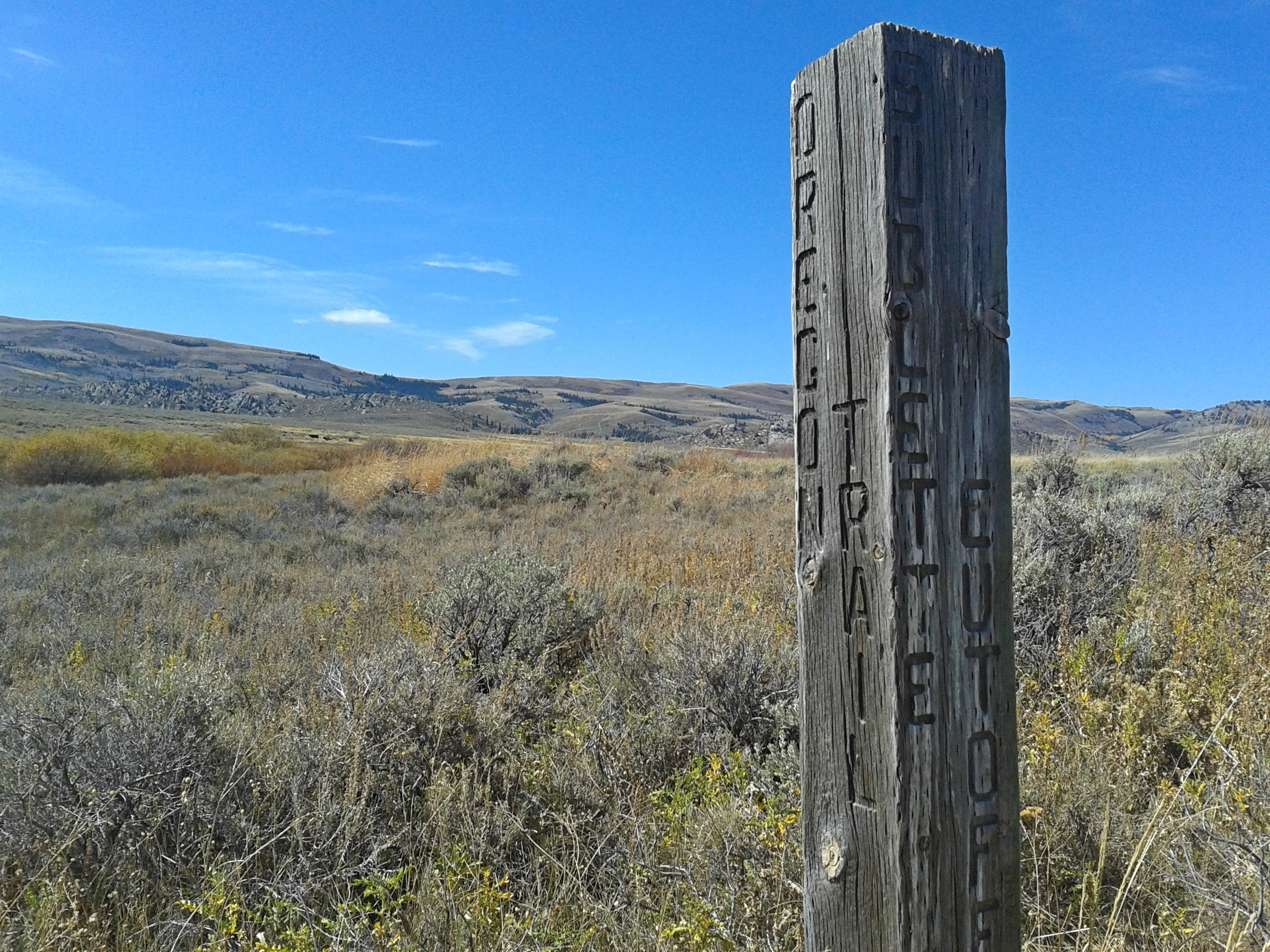 We worked around a historic part of the Oregon Trail: the  Sublette Cutoff  (click for link). The sponsor that we worked with even showed us old ruts in the ground from the wagon wheels. Very cool.