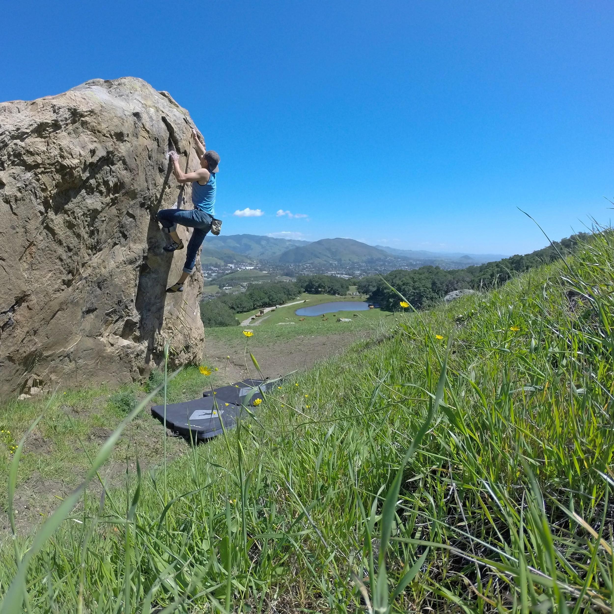 Bouldering over San Luis Obispo.