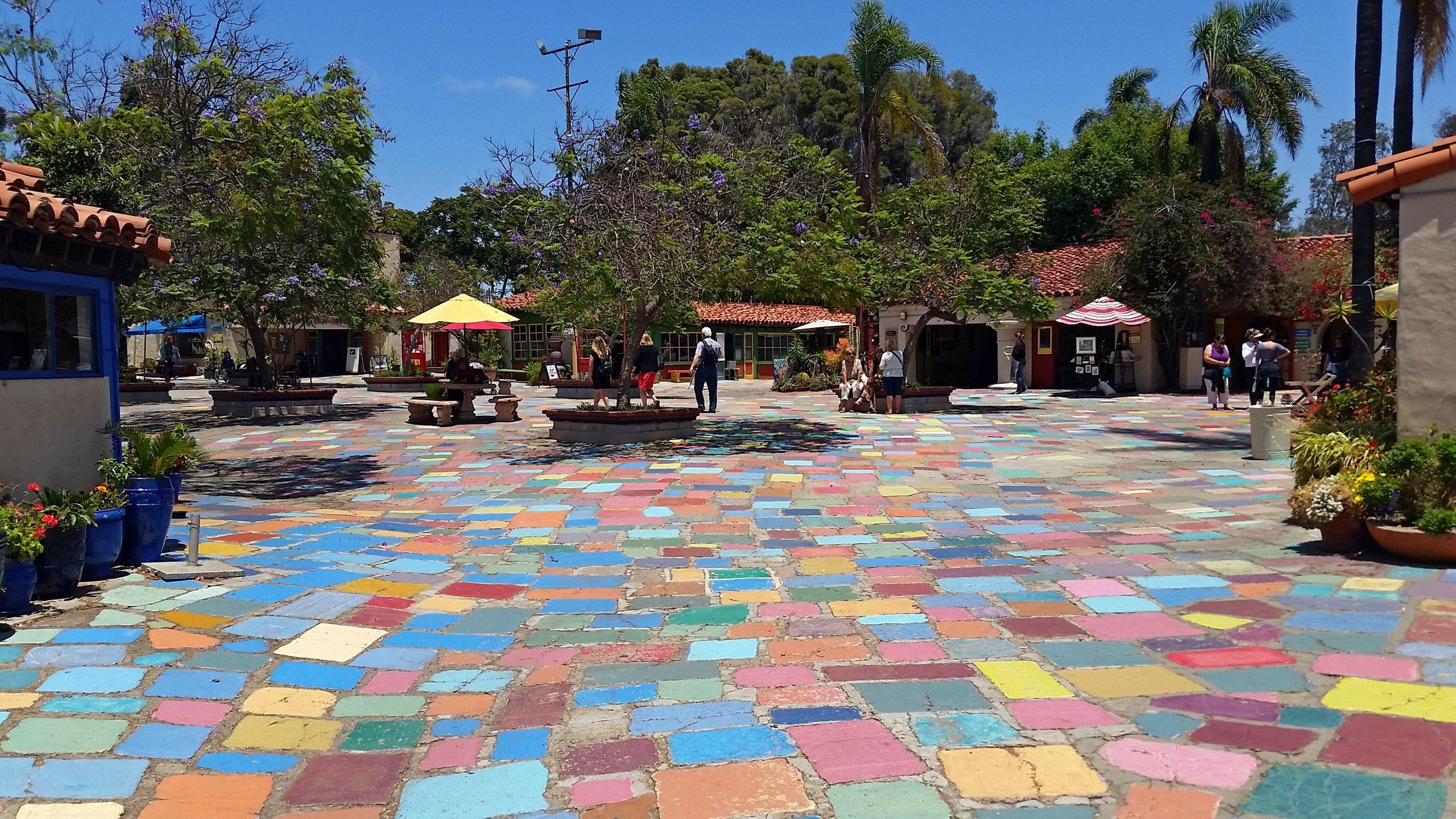 The Spanish Village in Balboa Park, San Diego.