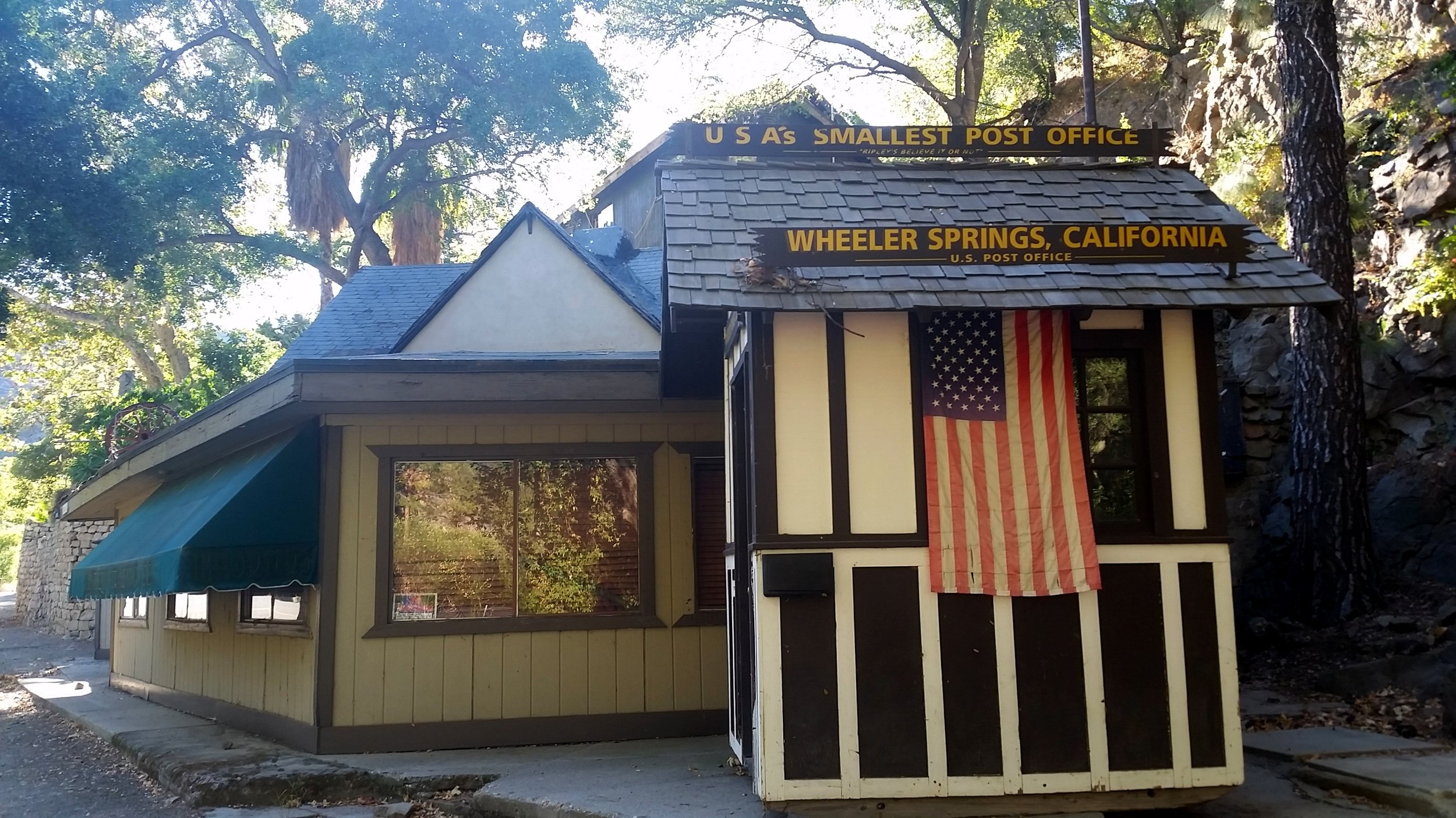 The smallest post office in the country? I guess so.
