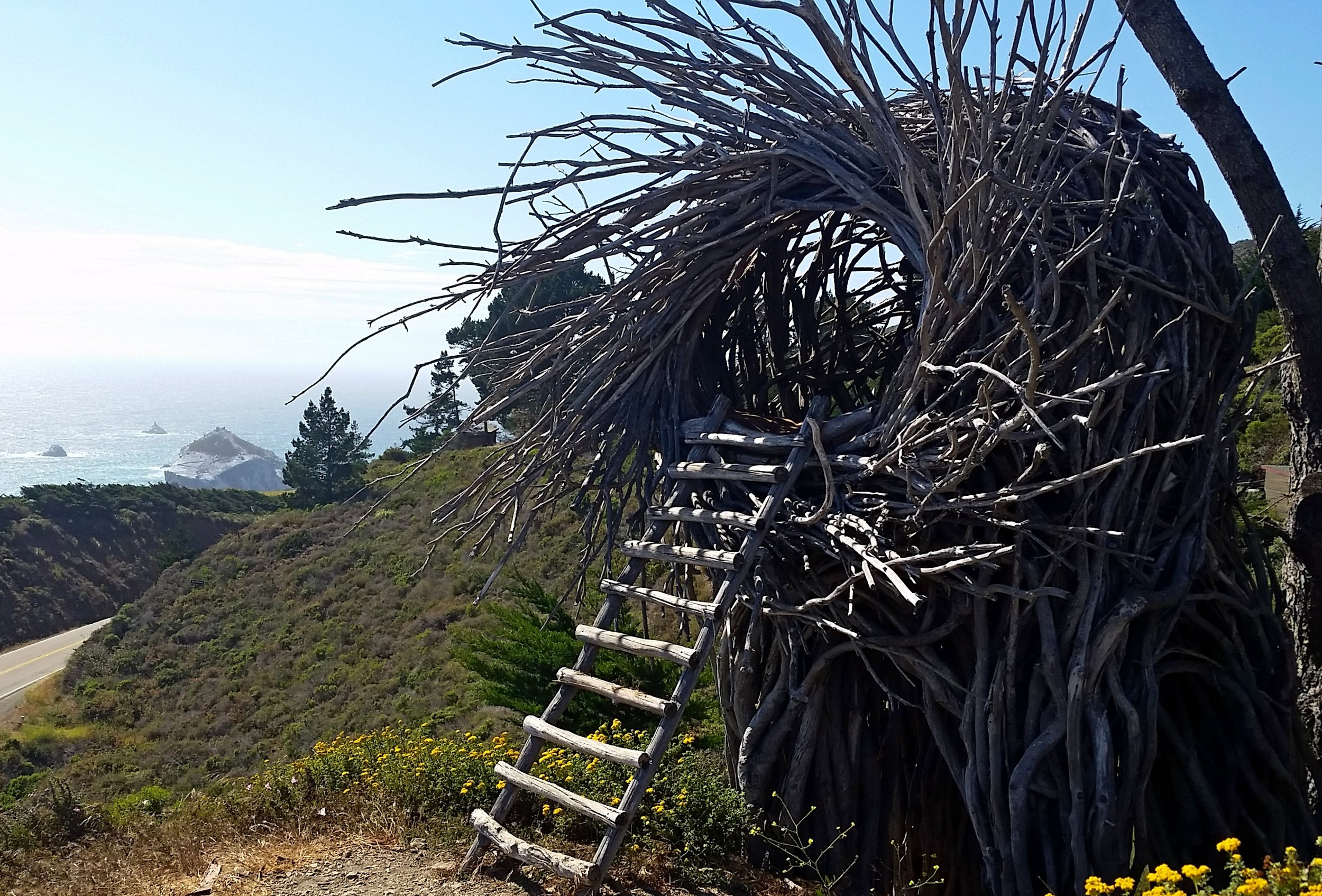 """""""The Nest."""" Don't forget to bring a blanket - those ocean winds are fierce."""