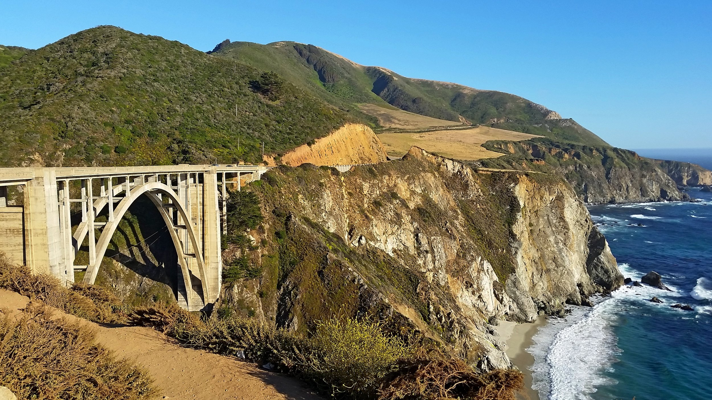 Passing the Bixby Bridge once again. I think I got a better shot this time.